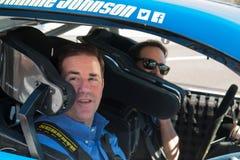 NASCAR ` s吉米约翰逊天在亚利桑那 免版税库存照片