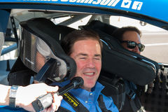 NASCAR ` s吉米约翰逊天在亚利桑那 图库摄影