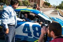 NASCAR ` s吉米约翰逊天在亚利桑那 免版税库存图片