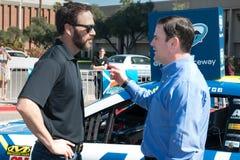 NASCAR ` s吉米约翰逊天在亚利桑那 库存照片