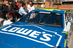 NASCAR-` s Jimmie Johnson Day i Arizona Arkivfoton