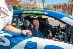 NASCAR-` s Jimmie Johnson Day i Arizona Arkivbilder
