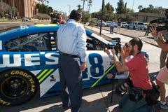 NASCAR-` s Jimmie Johnson Day i Arizona Fotografering för Bildbyråer