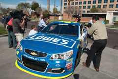 NASCAR-` s Jimmie Johnson Day i Arizona Arkivbild