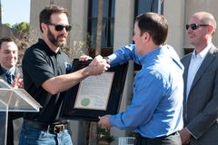 NASCAR-` s Jimmie Johnson Day i Arizona Royaltyfri Bild
