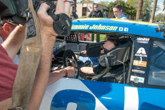 NASCAR-` s Jimmie Johnson Day i Arizona Royaltyfri Fotografi