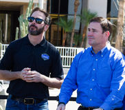 NASCAR-` s Jimmie Johnson Day i Arizona Royaltyfria Foton