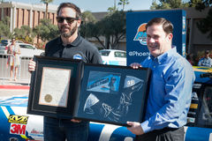 NASCAR-` s Jimmie Johnson Day i Arizona Royaltyfria Bilder