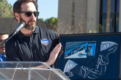 NASCAR ` s Jimmie Johnson dzień w Arizona obrazy stock