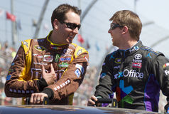 NASCAR's Kyle Busch and Denny Hamlin Royalty Free Stock Photos