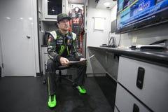 NASCAR: Scontro di avanzamento dei ricambi auto del 18 febbraio a Daytona Fotografia Stock Libera da Diritti