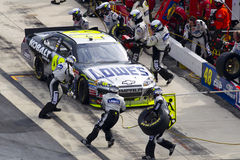 NASCAR:  Sep 26 AAA 400. DOVER, DE - SEP 26, 2010:  Jimmie Johnson brings his Lowes Chevrolet in for service during the AAA 400 race at the Dover International Royalty Free Stock Images