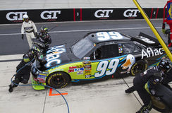 NASCAR:  Sep 26 AAA 400. DOVER, DE - SEP 26, 2010:  Carl Edwards makes a pit stop during the AAA 400 race at the Dover International Speedway in Dover, DE Royalty Free Stock Image