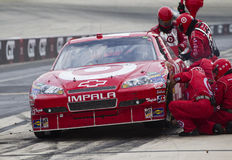 NASCAR:  Sep 26 AAA 400. DOVER, DE - SEP 26, 2010:  Juan Pablo Montoya makes a pit stop during the AAA 400 race at the Dover International Speedway in Dover, DE Stock Image