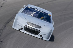 NASCAR:  Sep 16 NASCAR Test. Kansas City, KS - Sep 16, 2015:  The NASCAR Sprint Cup Series teams take to the track for the NASCAR Test at Kansas Speedway in Royalty Free Stock Images
