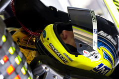 NASCAR:  September 05 Pep Boys Auto 500. 05 September, 2009:  Paul Menard straps in before qualifying for the Pep Boys Auto 500 NASCAR race at the Atlanta Motor Stock Images