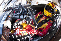 NASCAR:  September 19 Sylvania 300. 19 September, 2009:  Kevin Harvick straps into his Pennzoil Chevrolet for the final practice session for the Sylvania 300 at Stock Photography