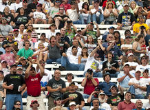 NASCAR:  September 27 AAA 400. 27 September, 2009:  Fans watch the AAA 400 NASCAR Sprint Cup race at the Dover International Speedway in Dover, DE Royalty Free Stock Photos