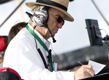 NASCAR:  September 27 AAA 400. 27 September, 2009:  Jack Roush sits in the No. 16 3M pit box during the AAA 400 at Dover International Speedway in Dover, DE Stock Images
