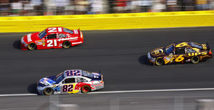 NASCAR - Side by Side Racing in Charlotte! Royalty Free Stock Photography