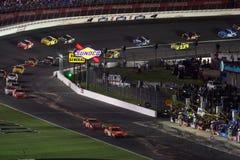 NASCAR - sobre el camino del hueco Fotos de archivo
