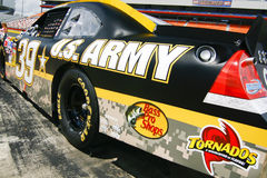 NASCAR - Sponsorship Spotlight 2. NASCAR driver Ryan Newman's #39 U.S. Army car waits on pit road before the start of the 2010 Coca Cola 600 at Charlotte Motor Stock Photography