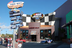 Nascar Sports Grille at Universal Studios, Orlando. Orlando (Florida), Universal Studios - The Nascar Sprots Grille on the way to the entrance of the park Royalty Free Stock Photo