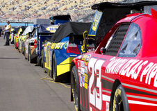 NASCAR Sprint Cup Cars Lined Up Royalty Free Stock Images