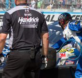 NASCAR Sprint Cup Series Pit Stop Royalty Free Stock Photography