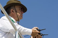 NASCAR  Sprint Cup Series Samsung 500 Apr 3. Apr 03, 2009 NASCAR Samsung 500 Fort Worth, TX - Jack Roush watches his drivers practice for the Samsung 500 NASCAR Stock Image