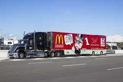NASCAR 2013 :  Sprint tasse série GoBowling.com 400 4 août Photo libre de droits