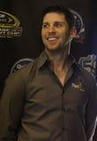 NASCAR sprintar koppchauffören Denny Hamlin Arkivbilder