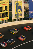 NASCAR - stacked up in turn 3 Royalty Free Stock Photography
