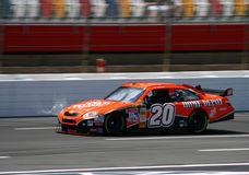 NASCAR - Stewart at the 600. Tony Stewart's #20 Home Depot Toyota Car of Tomorrow on track before the 2008 Coca Cola 600 at Lowes Motor Speedway stock photos