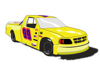 Nascar style race truck Stock Images