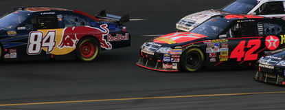 NASCAR - Texaco gegen Red Bull Lizenzfreie Stockfotos