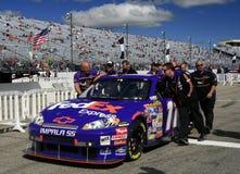 NASCAR - trasladándose a la posición Imágenes de archivo libres de regalías