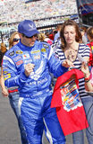 NASCAR - Truex Jr and Fans Royalty Free Stock Image