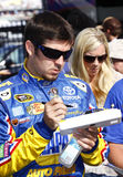 NASCAR - Truex Jr Signs Autographs Royalty Free Stock Image