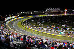 NASCAR - Turn 2 Charlotte Motor Speedway Royalty Free Stock Images
