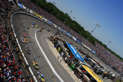 NASCAR - Una vista differente immagini stock