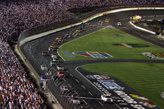 NASCAR - under caution at Lowes Royalty Free Stock Images