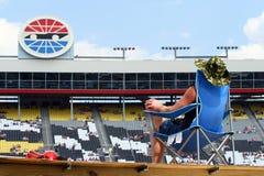 NASCAR - ventilador leal Imagen de archivo libre de regalías