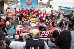 NASCAR Victory Lane at Phoenix International Racew. Kevin Harvick, crew, and family at Victory Lane Royalty Free Stock Photo
