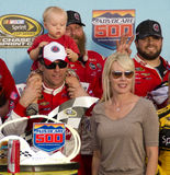 NASCAR Victory Lane in Phoenix Internationale Racew Stock Foto's