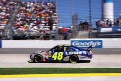 NASCAR - vincitore 2009 della golosità 500 Jimmie Johnson Fotografia Stock