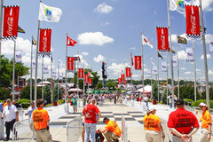 NASCAR - Waiting for Fans to Arrive at the Gate Royalty Free Stock Image