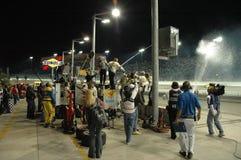 NASCAT night race Royalty Free Stock Image