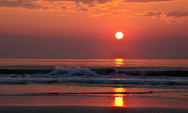 NASCER DE O SOL St Augustine, FL, EUA Fotografia de Stock Royalty Free