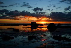 Nascer do sol 1 do oceano Imagens de Stock